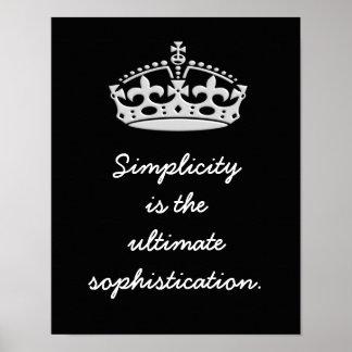 Einfachheits-entscheidende Kultiviertheit -- Poster