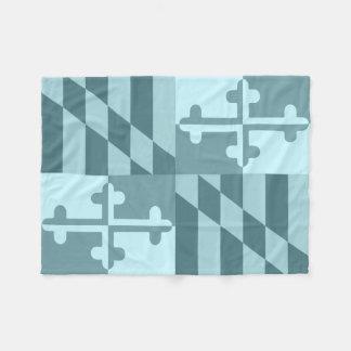 Einfarbige Decke Maryland-Flagge - Himmelblau Fleecedecke