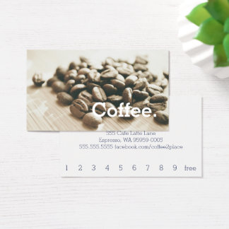 Einfarbige Kaffeebohne-einfache Visitenkarte