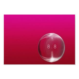 Einfarbige rote rosa Glasball-Blase Vip Karte