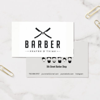 Einfarbiger Friseursalon-Schnitt u. Visitenkarte