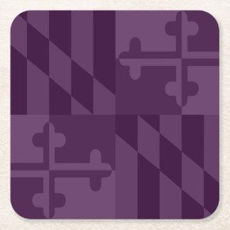 Einfarbiger Untersetzer Maryland-Flagge - Pflaume