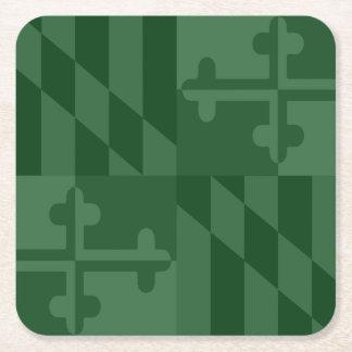 Einfarbiger Untersetzer Maryland-Flagge - Waldgrün