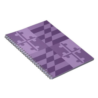 Einfarbiges Anmerkungsbuch Maryland-Flagge - Notizbuch