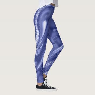 Einfarbiges Blau der kosmischen Mustergamaschen Leggings