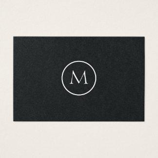 Einfarbiges unbedeutendes mit Monogramm elegantes Visitenkarte
