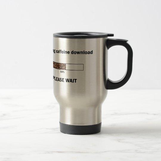 Einführung des Koffein-Downloads Reisebecher