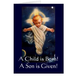 Einführung Propter Nr., ein Kind ist geboren! Grußkarte