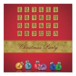 Einführungs-Kalender mit Verzierungen - Party Quadratische 13,3 Cm Einladungskarte