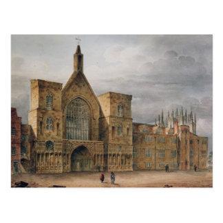 Eingang zu Westminster Hall, 1807 Postkarte