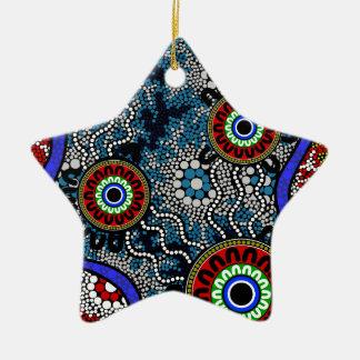 Eingeborene Kunst - Camping Keramik Ornament