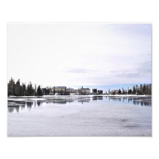 eingefroren fotografischer druck