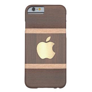 Eingelegter Kasten des dunklen Brauns Polierholz Barely There iPhone 6 Hülle