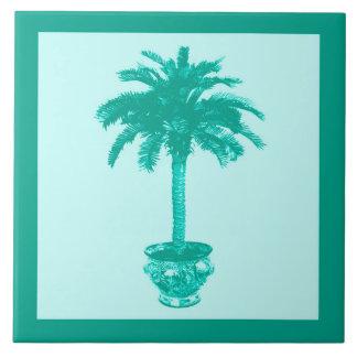 Eingemachte Palme - Türkis und Aqua Keramikfliese