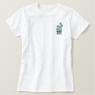eingemachter Kaktus personalisiertes gesticktes Besticktes Poloshirt