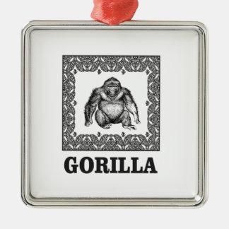 eingepackter Gorilla Silbernes Ornament