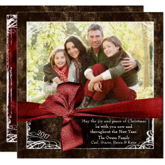 Eingewickelt in den Liebe-Foto-Weihnachtskarten Karte
