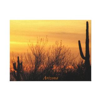 Eingewickelte Leinwand--Arizona Sunset-3 Leinwanddruck