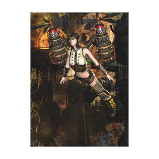 eingewickelte Leinwand steampunk Fliegens Mädchen