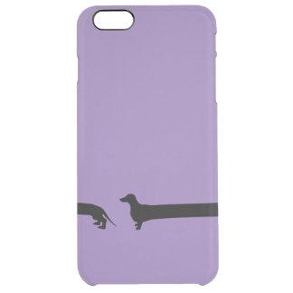 Eingewickelter Dackel iphone 6 Kasten Durchsichtige iPhone 6 Plus Hülle