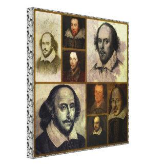 Eingewickelter Leinwand-Druck Shakespeare Collage Leinwanddruck