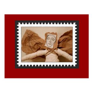 Eingewickelter Weihnachtsengel Postkarte