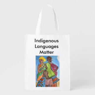 Einheimische Sprachangelegenheit Wiederverwendbare Einkaufstasche