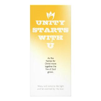 EINHEIT BEGINNT MIT U (weißes Feuer) u. Logo Werbekarten