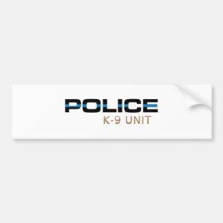 Einheit der Polizei-K-9 Autoaufkleber