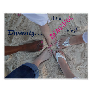 Einheit! Ethnischer Diversity-Rum-Punkt Cayman Poster