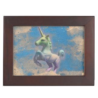 Einhorn-Andenken-Kasten (Sandy-Blau) Erinnerungsbox