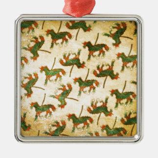 Einhorn-Blatt Silbernes Ornament