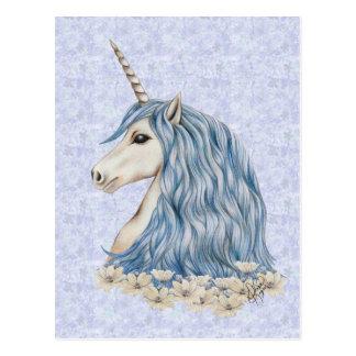 Einhorn-Blau-Haar Postkarte