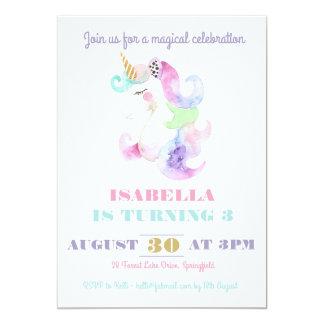 Einhorn-Geburtstags-Einladung 12,7 X 17,8 Cm Einladungskarte