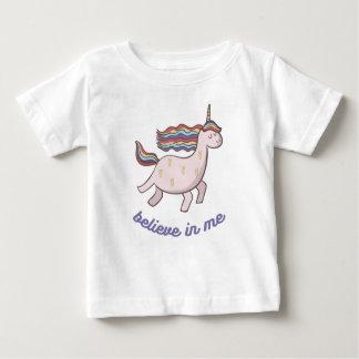 Einhorn glauben an mich baby t-shirt