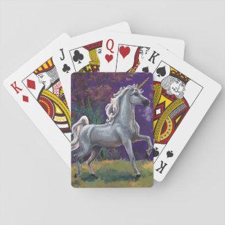 Einhorn-Lichtung Spielkarten