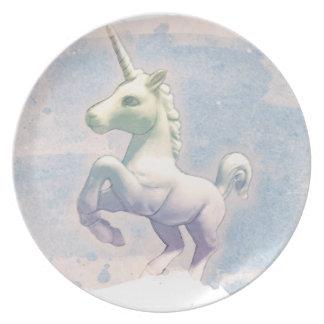 Einhorn-Melamin-Platte (Mond-Träume) Melaminteller