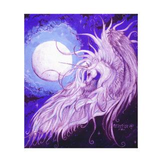 Einhorn mit Mond Leinwanddruck