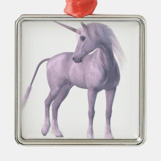 Einhorn-Pferd Silbernes Ornament