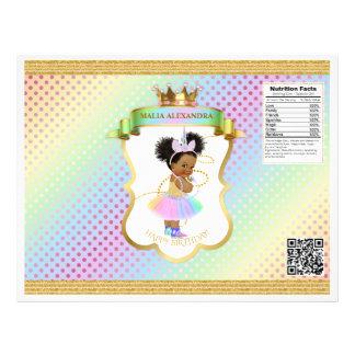 Einhorn-Regenbogenafro-Hauch-Baby-Chip-Tasche Flyer