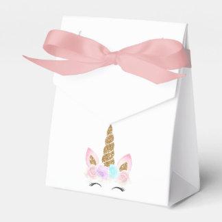 Einhorn-Rosa u. Goldgeburtstag Geschenkschachtel