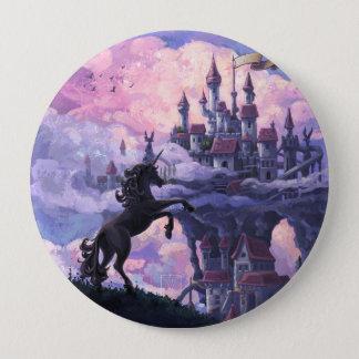 Einhorn-Schloss Runder Button 10,2 Cm