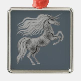 Einhorn Silbernes Ornament