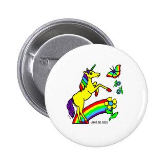 Einhorn-Stolz-Gleichheits-Knopf Runder Button 5,1 Cm