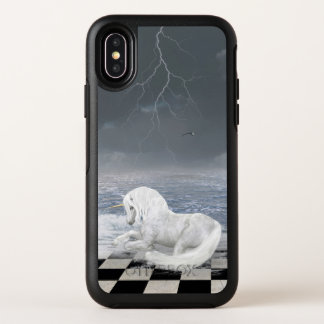 Einhorn-surrealer Meerblick OtterBox iPhone X Fall OtterBox Symmetry iPhone X Hülle