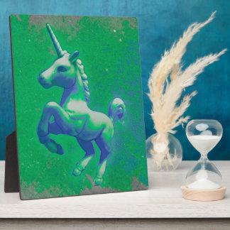 Einhorn-Tischplatte-Plakette 8x10 (glühend Fotoplatte