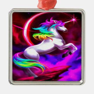 Einhorn-Traum Silbernes Ornament