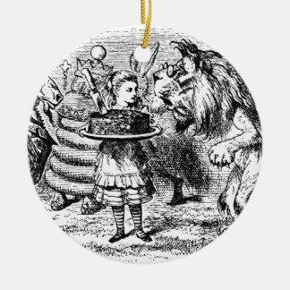 Einhorn und Löwe Keramik Ornament