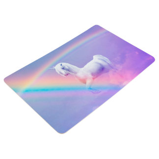 Einhorn und Regenbogen Bodenmatte