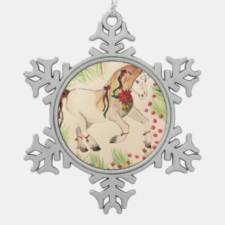 Einhornbaumdekoration Schneeflocken Zinn-Ornament